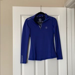 Fitted Blue Workout Jacket